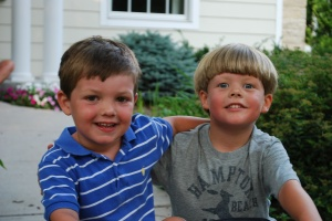 Brady and his adorable cousin Charlie from NY