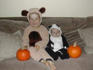 Halloween 2005, my two bears