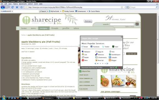 Sharecipe Recipes on the go - Share This!
